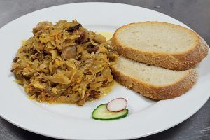 sauerkraut, mushroom and meat stew
