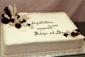 picture of a engagement cake