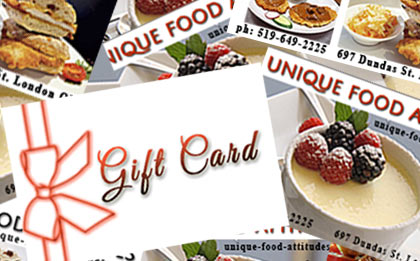 photo of Unique Food Attitudes gift cards