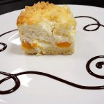 photo of peach coconut and yogurt cake