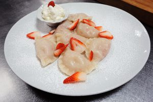 dumplings with strawberry filling