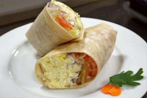 picture of egg salad wrap