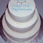 photo of a three tier communion cake