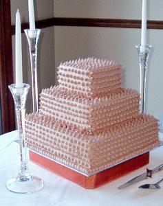 photo of a three tier cake