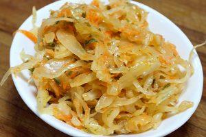 photo of sauerkraut salad